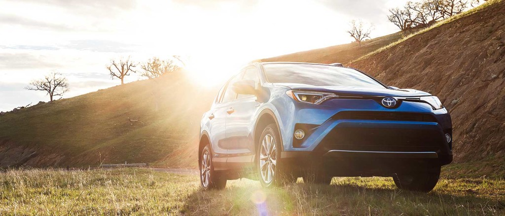 2016 Toyota RAV4 Hybrid in the countryside