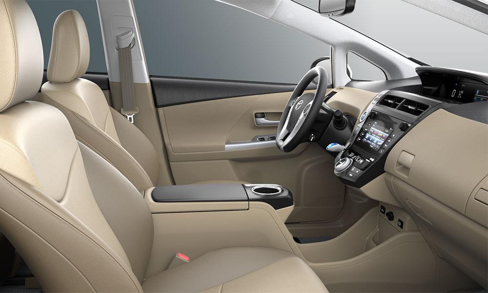 2017 Toyota Prius v interior seats
