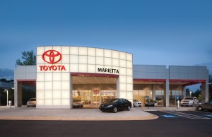 Marietta Toyota New Car Showroom Exterior