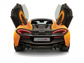 570S Rearview Doors Open