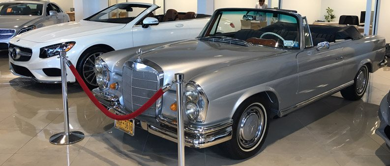 1969 Mercedes-Benz 280SL Convertible Here in Our Showroom