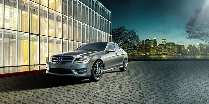 <span style='font-size: .5em'>Ex-Loaner<br>2017 Mercedes-Benz</span><br>C-Class