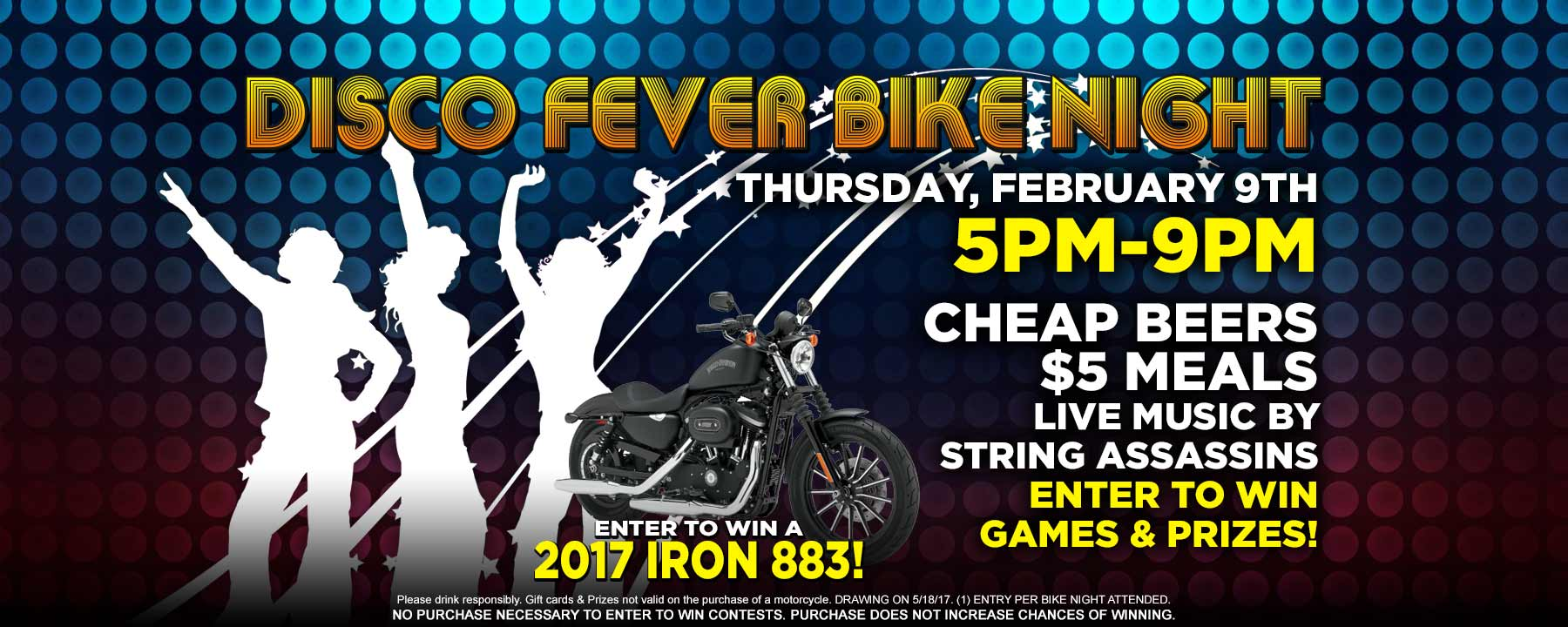 Palm Beach Harley Disco Fever Bike Night this Thursday 5-9pm