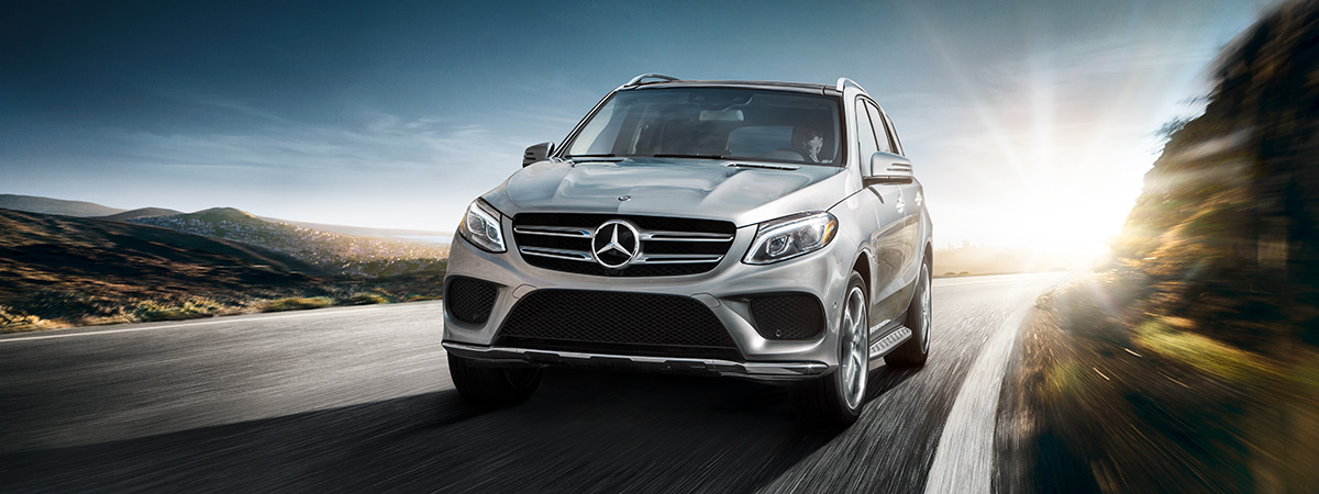 2017 Mercedes-Benz SUV Front View on Highway
