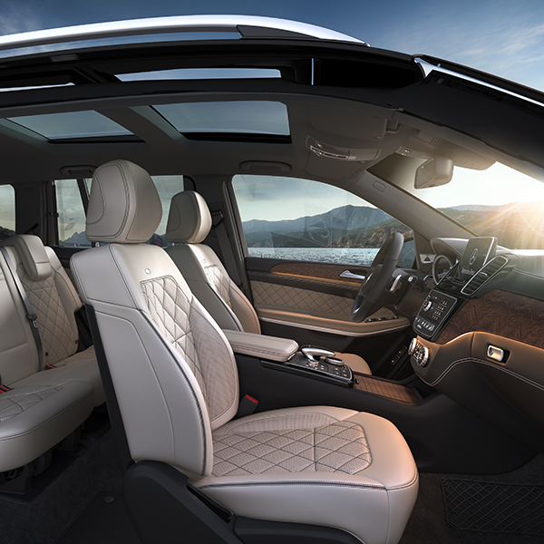 2017 Mercedes-Benz GLS SUV Interior Front Seats