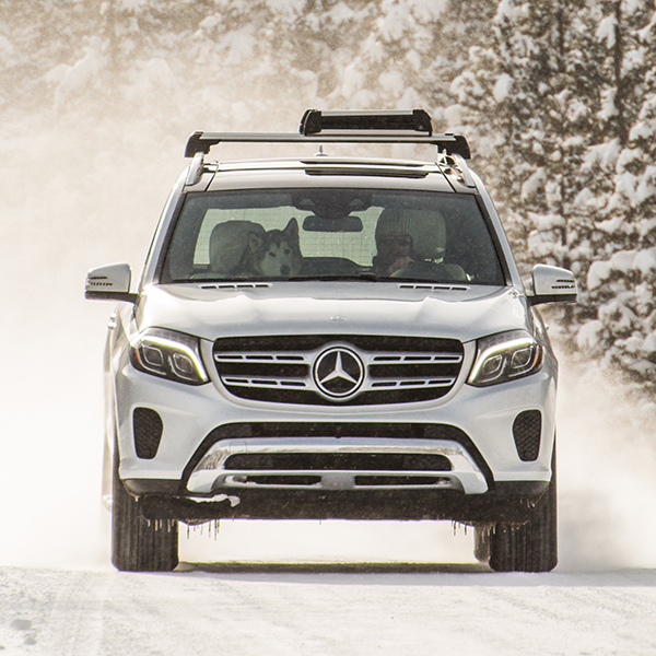 Charming 2017 Mercedes Benz GLS SUV Front View