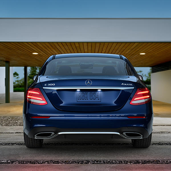 2017 Mercedes-Benz E-Class Sedan Rear View