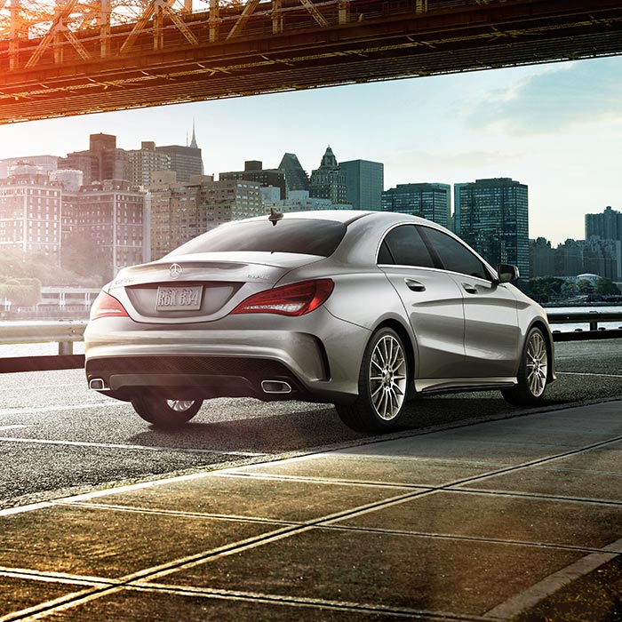 2016 Mercedes-Benz CLA Rear View