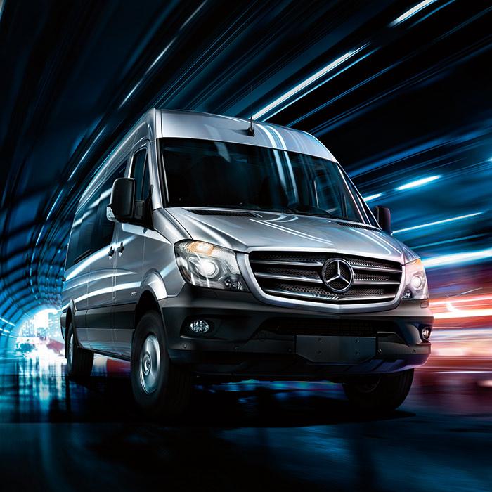 2016 Mercedes-Benz Sprinter Front View Driving