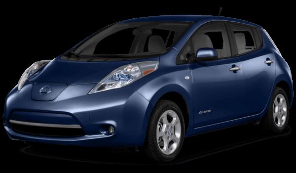 2016 Nissan Leaf blue exterior