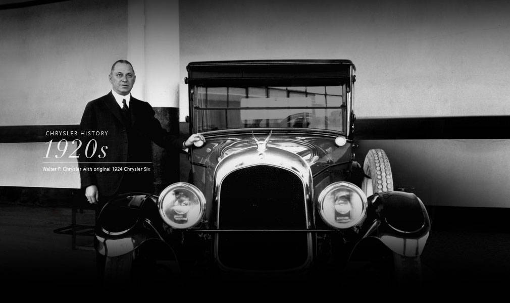 An image of Walter P. Chrysler and his original 1924 Chrysler Six Brought To You By Sid Dillon Chrysler Jeep Dodger RAM in Crete Nebraska