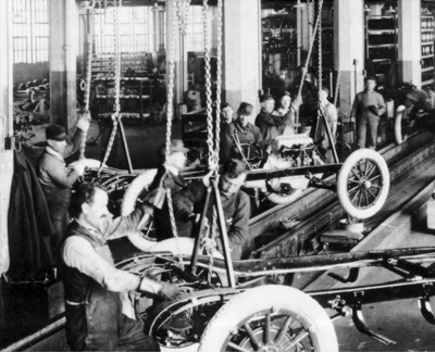 Image of The Dodge Brothers Assembly Line circa 1916 - Brought To you By Sid Dillon Chrysler Jeep Dodge RAM in Crete Nebraska