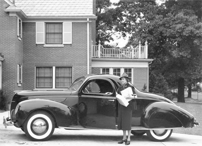 Image of a 1938 Lincoln Zephyr Coupe Brought To You By Sid Dillon Lincoln in Crete Nebraska