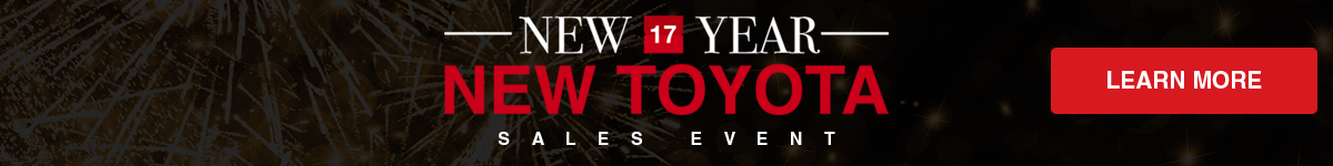 New Year New Toyota Sales Event