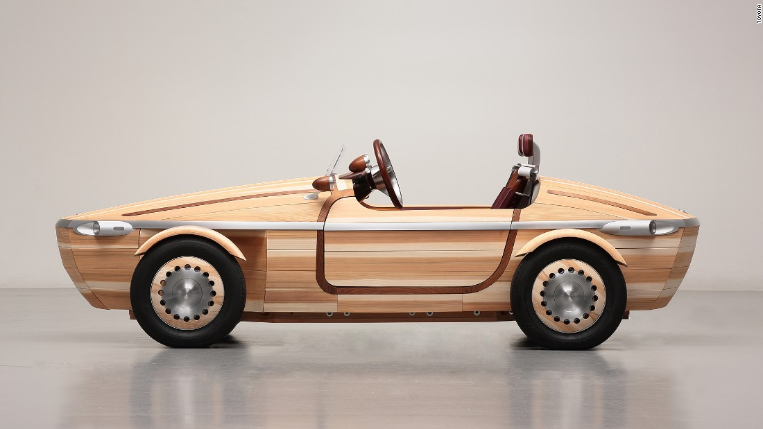 Toyota Setsuna A Car Made From Wood Without Using Nails Or Screws